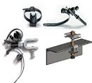 Струбцины, консоли и шлейфовые зажимы для спуска кабеля