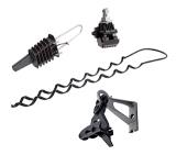 Зажимы для подвеса и монтажа силового кабеля СИП