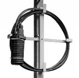 Узлы крепления муфты и запаса кабеля